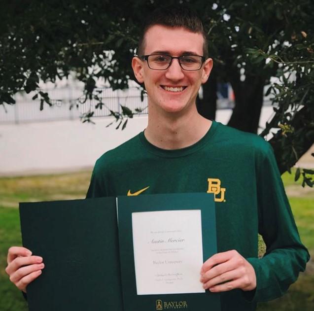 2021 Scholarship Winner Austin Mercier
